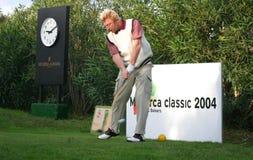 Boris Becker играя гольф в mallorca стоковые изображения rf