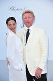 Boris Becker y Lilly Becker Imagen de archivo