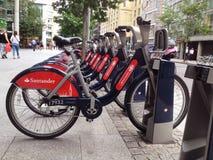 Boris Bikes Lizenzfreies Stockfoto