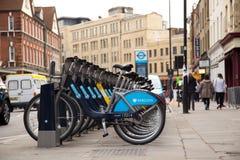 Boris bikes. Stock Photo
