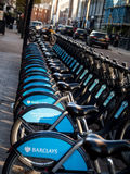 Boris bikes Royalty Free Stock Photo