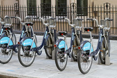 Boris bikes Stock Photography