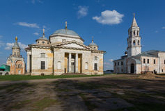 Boris en Glebs-kathedraal in Borisoglebsky Monaste stock afbeeldingen