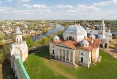 Boris en Glebs-kathedraal in Torzhok stock fotografie