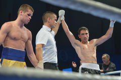 Boris Georgiev a gagné le match contre Viacheslav Kislitsyn images stock
