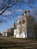 Boris i Gleba monaster dzwonnica i katedra, Borisoglebsk, Rostov okręg, Yaroslavl region, Rosja Zdjęcie Stock
