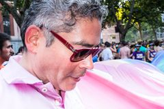 Boris Izaguirre participating at the Gay Pride parade in Madrid Royalty Free Stock Image