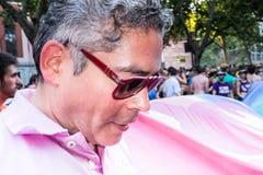 Boris Izaguirre participating at the Gay Pride parade in Madrid. MADRID, SPAIN - JULY, 6: Boris Izaguirre participaing at the Gay Pride parade. Near 1,200,000 royalty free stock image