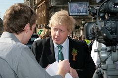 Boris Johnson, alcalde de Londres Fotos de archivo