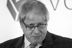 Boris Johnson E. England, Bristol - 14 May 2016: Boris Johnson speaks at a Vote Leave event horizontal portrait black and white photography Royalty Free Stock Photo