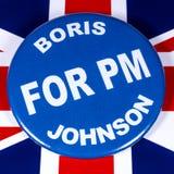 Boris Johnson för premiärminister arkivbild
