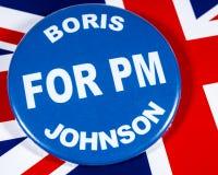 Boris Johnson för premiärminister royaltyfria foton