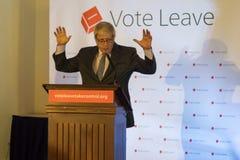 Boris Johnson G. England, Bristol - 14 May 2016: Boris Johnson speaks at a Vote Leave event horizontal portrait hands up Royalty Free Stock Photos