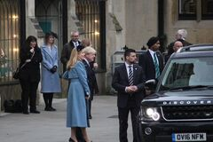 Boris Johnson, London, Boris Johnson UK prime minister and fiancée Carrie Symonds at commonwealth day service at