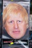 Boris Johnson odkrywczości twarzy maska zdjęcie stock