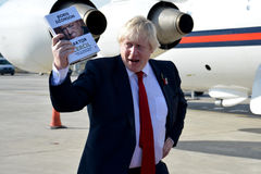 Boris Johnson, Secretary of State with his book, The Churchill Factor. Belgrade, Serbia. November 11th 2016 - Boris Johnson, Secretary of State for Foreign and Stock Photos