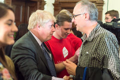 Boris Johnson on Vote Leave event in Bristol royalty free stock photo