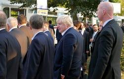 Boris Johnson walking in the park during the Informal OSCE Forei Stock Photo