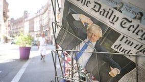 Boris Johnson wordt Britse het Verenigd Koninkrijk Eerste minister stock footage