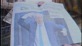 Boris Johnson wordt Britse het Verenigd Koninkrijk Eerste minister stock video