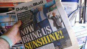 Boris Johnson wordt Britse het Verenigd Koninkrijk Eerste minister stock videobeelden