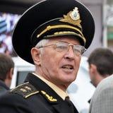 Boris Kozhin - premier commandant des forces navales de l'Ukraine Images libres de droits