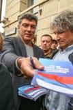 Boris Nemtsov - homem político do russo Nemtsov foi matado na noite do 28 de fevereiro de 2015 no centro de Moscou Imagem de Stock