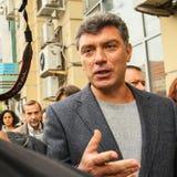 Boris Nemtsov - homem político do russo, um dos líderes da oposição durante o protesto de anti-Putin Fotos de Stock Royalty Free