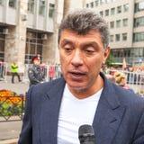 Boris Nemtsov - homem político do russo, um dos líderes da oposição durante o protesto de anti-Putin Imagens de Stock Royalty Free
