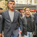 Boris Nemtsov - homme d'état russe, un des chefs de l'opposition pendant la protestation d'anti-Poutine Photos libres de droits