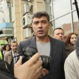 Boris Nemtsov - homme d'état russe, un des chefs de l'opposition pendant la protestation d'anti-Poutine Photographie stock libre de droits