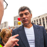 Boris Nemtsov - russian statesman, one of the leaders of opposition during anti-Putin protest. Royalty Free Stock Photos