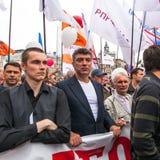 Boris Nemtsov - Russische staatsman, één van de leiders van oppositie tijdens protest anti-Putin Royalty-vrije Stock Fotografie