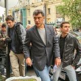 Boris Nemtsov - statista russo Nemtsov è stato ucciso nella notte del 28 febbraio 2015 nel centro di Mosca Immagine Stock Libera da Diritti