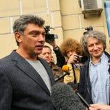Boris Nemtsov werd gedood in de nacht van 28 Februari, 2015 in centrum van Moskou Royalty-vrije Stock Fotografie
