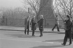 Boris Nikolayevich Yeltsin in openlucht stock afbeelding