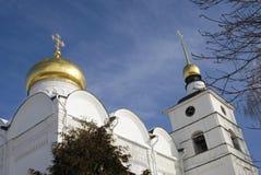 Boris och Gleb Church Boris och Glebmonastery i Dmitrov, forntida stad i Moskvaregion royaltyfri bild