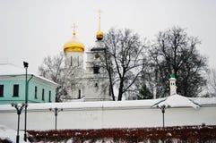 Boris och Gleb kloster i den Dmitrov staden, Moskvaregion, Ryssland royaltyfria foton