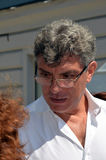 Boris Yefimovich Nemtsov. Parting with Valeria Novodvorskaya, the Sakharov centre in Moscow on July 16, 2014 Stock Image