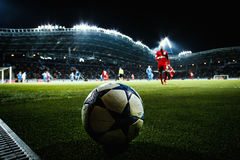Borisov, Λευκορωσία - τον Οκτώβριο του 2015: Κινηματογράφηση σε πρώτο πλάνο σφαιρών του Champions League Στοκ Φωτογραφίες
