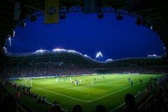Borisov-arena stadion in augustus 2014, Wit-Rusland Royalty-vrije Stock Afbeeldingen