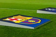 Borisov, Belarus - Ocober 2015, logo F C Barcelone Photo stock