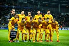 Borisov, Belarus - October 2015. F.C. Barcelona team stock image