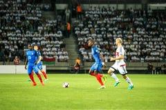 BORISOV - BIELORRUSIA, SEPTIEMBRE DE 2016: Pogba en el partido de fútbol del mundial Qual La UEFA agrupa A foto de archivo