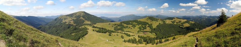 Borisov mountain from Ploska in Velka Fatra mountains in Slovakia Stock Image