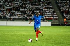 BORISOV - VITRYSSLAND, SEPTEMBER 2016: Pogba i fotbollsmatch av världscupen Qual UEFA grupperar A Arkivfoto