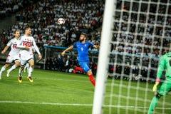 BORISOV - WIT-RUSLAND, SEPTEMBER 2016: Nationaal de voetbalteam van Frankrijk in gelijke van Wereldbeker Qual UEFA groepeert A Stock Foto
