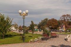 BORISPOL Boryspil, UCRAINA: Distretto amministrativo centrale fotografie stock libere da diritti