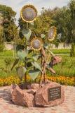 BORISPOL Boryspil, UCRAINA: monumento alle vittime del Holodom fotografie stock libere da diritti