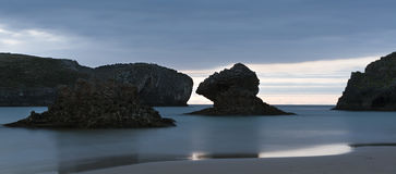 Borizu beach in Llanes. Stock Image